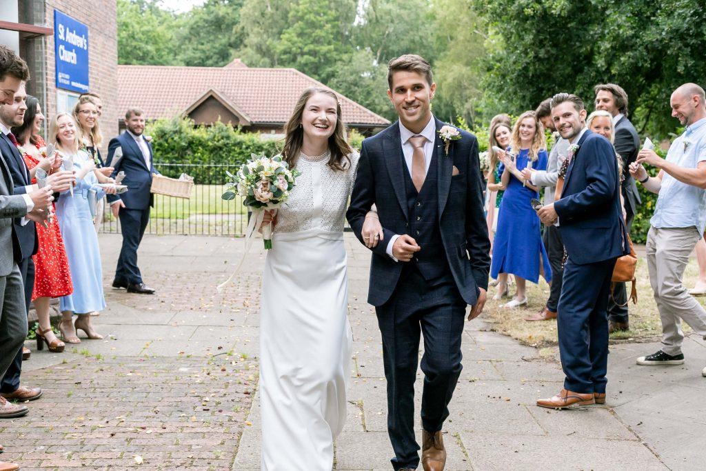 Cathy and Matt St Andrews church wedding photographer
